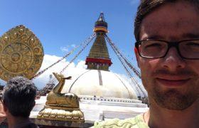 Pavel Štika stůpa Boudhanath Káthmándú Nepál