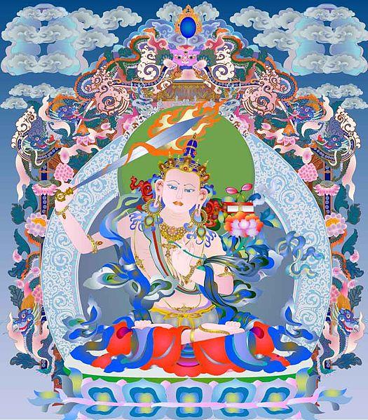 Bódhissatva Mandžušrí zdroj: Wikimedia commons