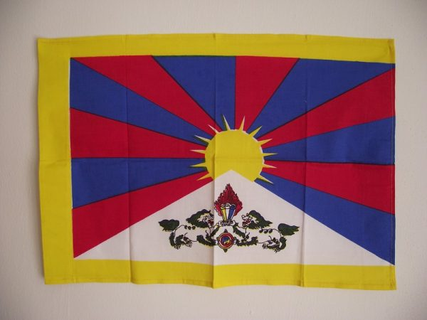 Tibetská vlajka - zdroj Buddhaweb.cz